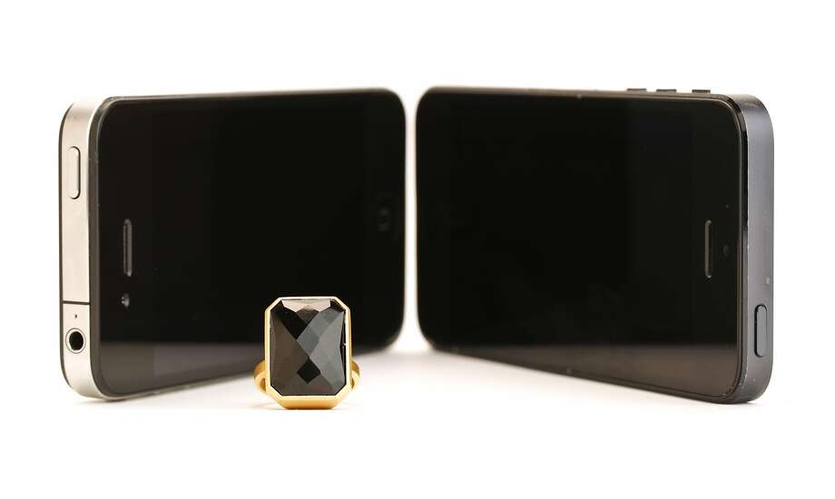 The Ringly Stargaze in black onyx with 18k matte gold plating is seen on Tuesday, July 1, 2014 in San Francisco, Calif. Photo: Ciera Pasturel, The Chronicle