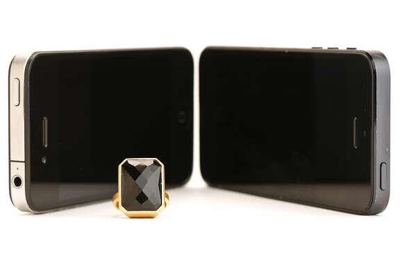 The Ringly Stargaze in black onyx with 18k matte gold plating is seen on Tuesday, July 1, 2014 in San Francisco, Calif.