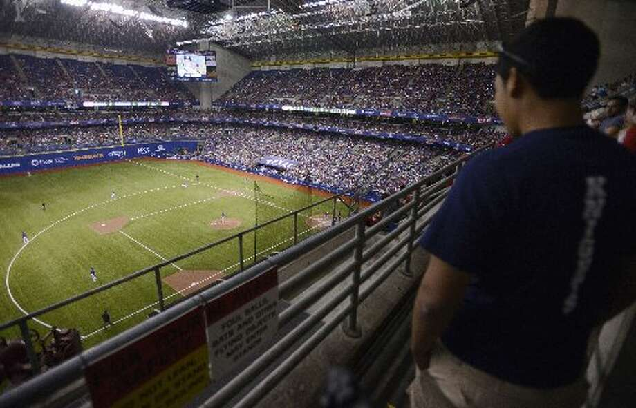 The Alamodome: Home of your San Antonio A's? Photo: Darren Abate, Associated Press