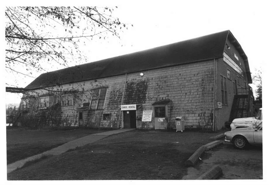 Naval Military Hangar--University Shell House -- University of Washington campus -- Added to the National Register of Historic Places on July 1, 1975. Photo: National Register Of Historic Places