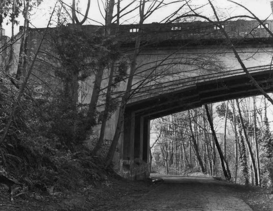 Schmitz Park Bridge -- Spans Schmitz Park Ravine -- Added to the National Register of Historic Places on July 16, 1982. Photo: National Register Of Historic Places