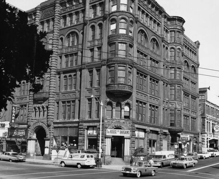 Pioneer Building, Pergola and Totem Pole -- 5th Avenue and Yesler Way -- Added to the National Register of Historic Places on May 5, 1977. Photo: National Register Of Historic Places
