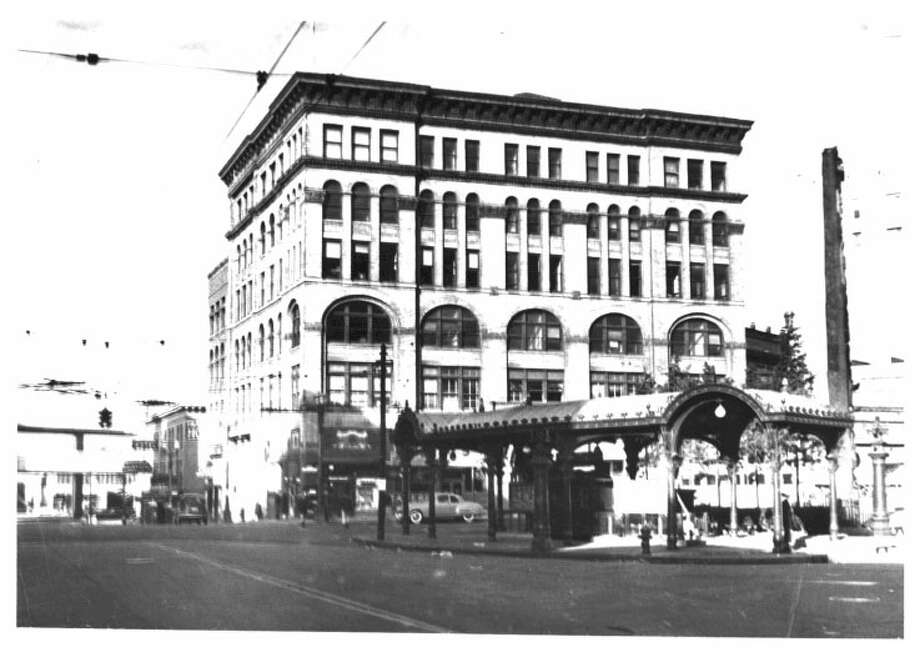 Iron Pergola -- 1st Avenue and Yesler Way – Added to the National Register of Historic Places on Aug. 26, 1971. Photo: National Register Of Historic Places