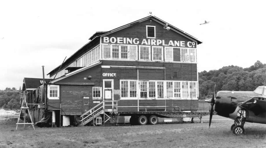 Building No. 105, Boeing Airplane Company -- Purcell Avenue -- Added to the National Register of Historic Places on Aug. 26, 1971. Photo: National Register Of Historic Places