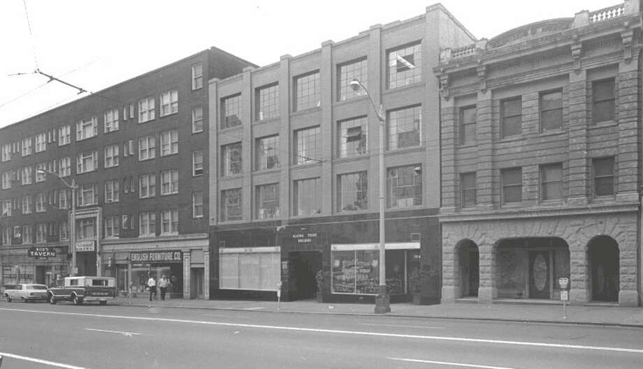 Alaska Trade Building -- 1915--1919 1st Ave. – Added to the National Register of Historic Places on May 6, 1971. Photo: National Register Of Historic Places