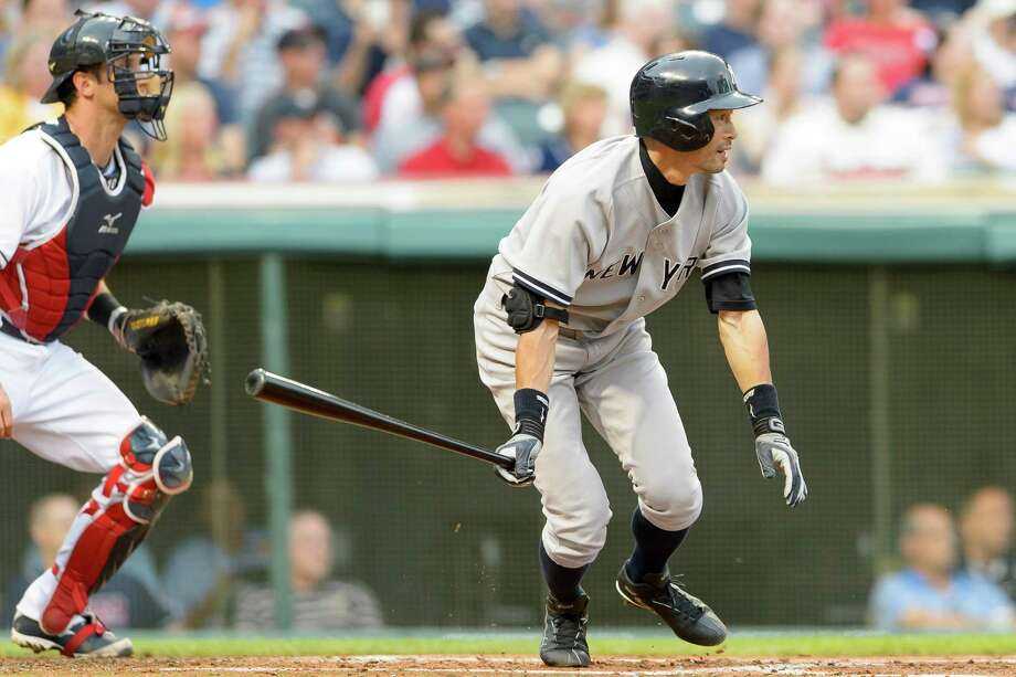 CLEVELAND, OH - JULY 7: Ichiro Suzuki #31 of the New York Yankees single to right field during the second inning against the Cleveland Indians at Progressive Field on July 7, 2014 in Cleveland, Ohio.  (Photo by Jason Miller/Getty Images) ORG XMIT: 477586111 Photo: Jason Miller / 2014 Getty Images