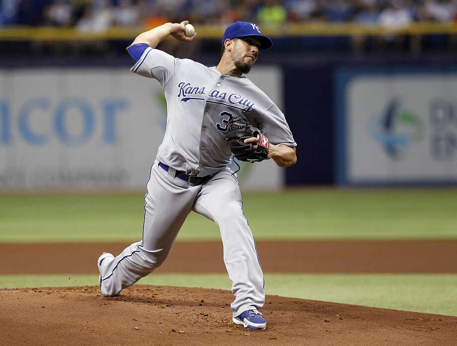 The right-hander sparkled in his return to the stadium where he earned a living for the first seven seasons of his career, limiting the Tampa Bay Rays to three hits and striking out 10 in seven innings to help the Kansas City Royals beat his former team 6-0 on Monday night. Photo: Brian Blanco, Getty Images