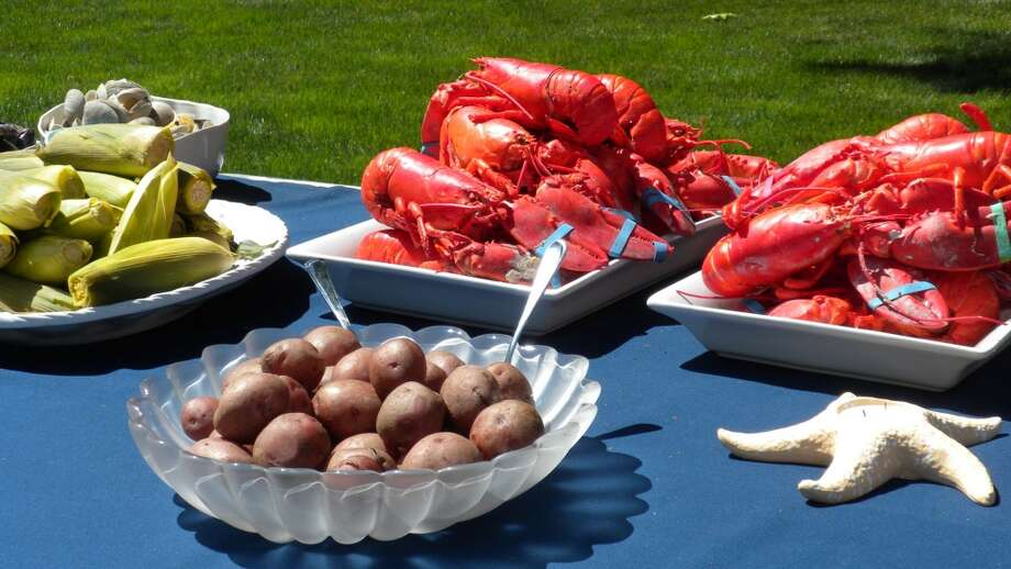 "Captain John's out of Norwalk has catering options like the Lobster & Clambake or Surf & Turf.  They also offer a ""Travelin' Clambake"" where they pack it so you can pick it up and cook it."