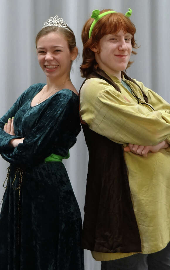 """""""Shrek the Musical,"""" with Emma LaPlace as Fiona and Dante DiFederico as Shrek, is the Fairfield Teen Theatre's Main Stage production the weekends of Aug. 1-3 and 8-10. Teen Theatre's Magic Box company is also presenting """"The 25th Annual Putnam County Spelling Bee,î July 25 and 26; and """"Aladdin Jr."""" will be presented by the PreTeen Players July 18 and 19. Photo: Contributed Photo / Fairfield Citizen"""