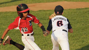 Fairfield National v. Monroe in the opening game of the Little League District 2 double elimination tournament at Unity Park in Trumbull, Conn. on Monday, July 7, 2014.