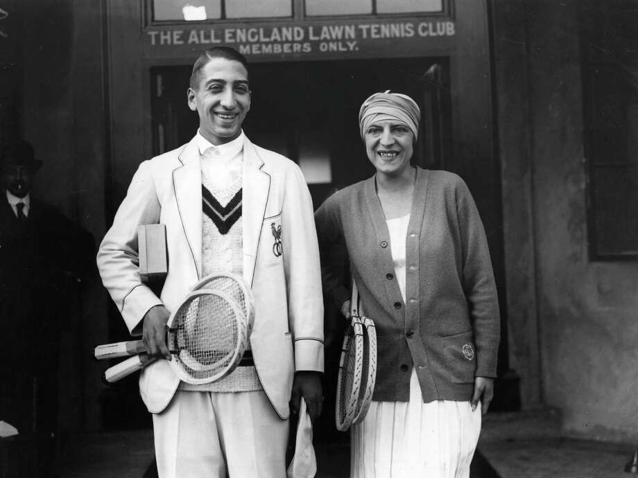 1924: French tennis players Suzanne Lenglen and Rene Lacoste (you know, the guy from the shirts) prepare for a practice game at the All England Lawn Tennis Club. Tennis whites are still required at Wimbledon, but they don't take it this far.Let's take a look back a fashion on the tennis court through the years. Photo: Topical Press Agency, Getty Images / Hulton Archive
