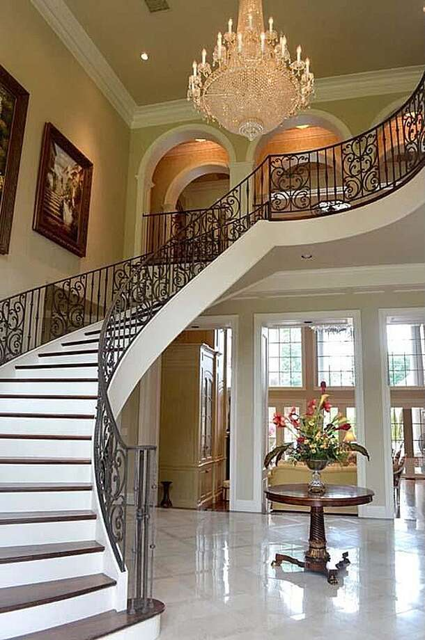 1355 Thomas Rd, Beaumont: $2,450,000The home has 24' foyer with elegant suspended staircase and marble floors. Photo: Zillow