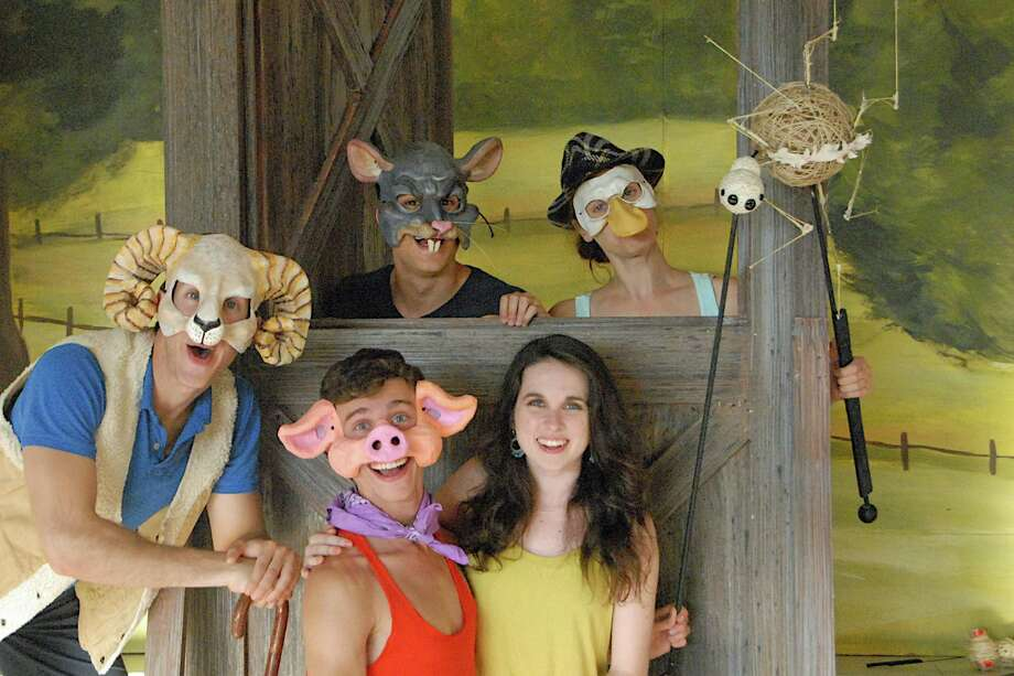 "The Summer Theatre of New Canaan will present ìCharlotteís Webî weekends through Aug. 3 at Waveny Park.  Ali Tesluk (right) plays Fern with ""Charlotte's Web"" cast and Charlotte puppet. Photo: Contributed Photo, Contributed / New Canaan News Contributed"