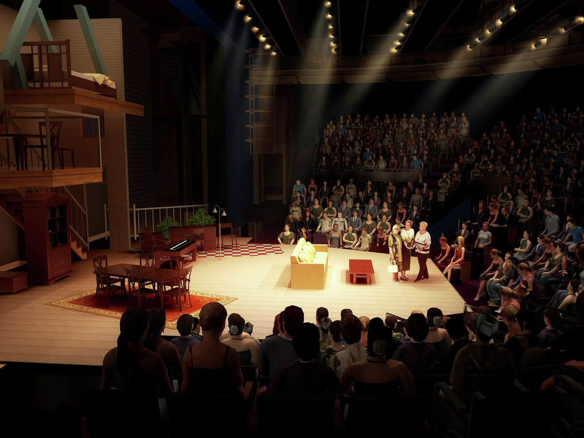 The Alley Theatre's Hubbard Stage will be reconfigured in the renovation.