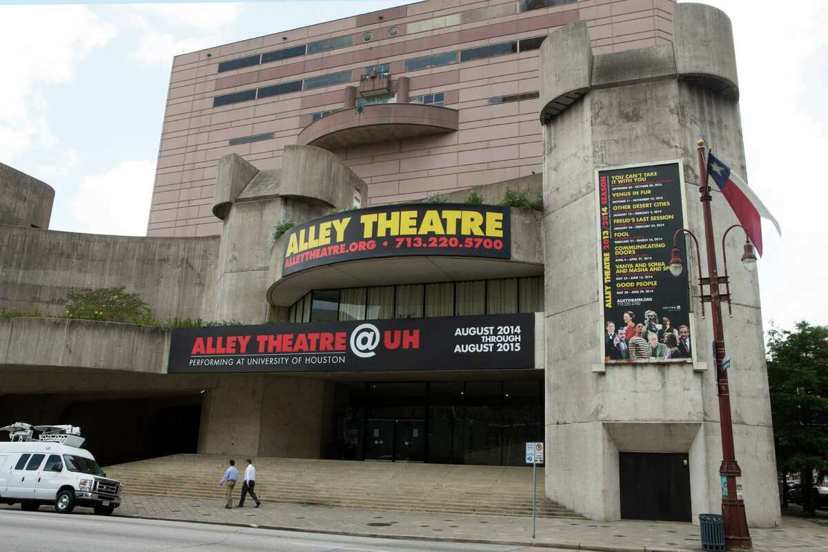 The Alley Theatre is shown following a