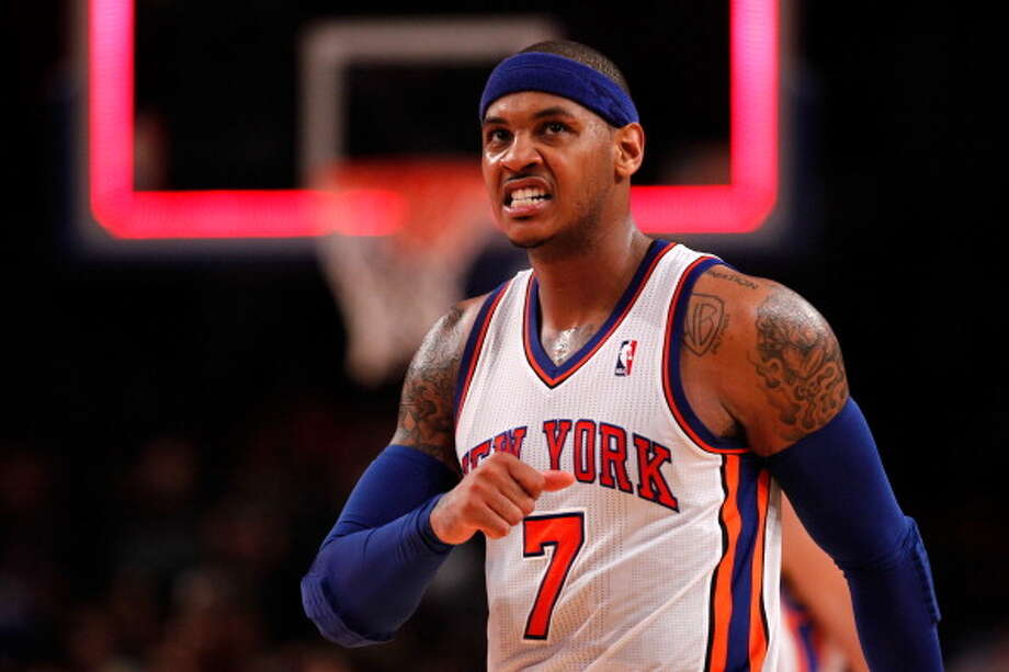 Carmelo Anthony Small forward Status: Agreed to five-year, $129 million contract with New York KnicksThe Rockets were one of five teams to secure an in-person meeting with the All-Star forward as they hosted Anthony on July 2. He is reportedly mulling offers from the Knicks, Lakers and Bulls, though has yet to turn down any of his suitors. Photo: Jeff Zelevansky, Getty Images / 2012 Getty Images