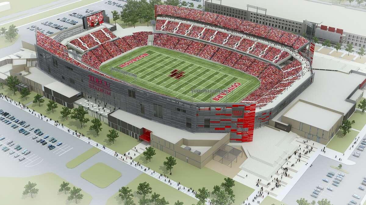 Artist's rendering of TDECU Stadium. (Courtesy of the University of Houston)