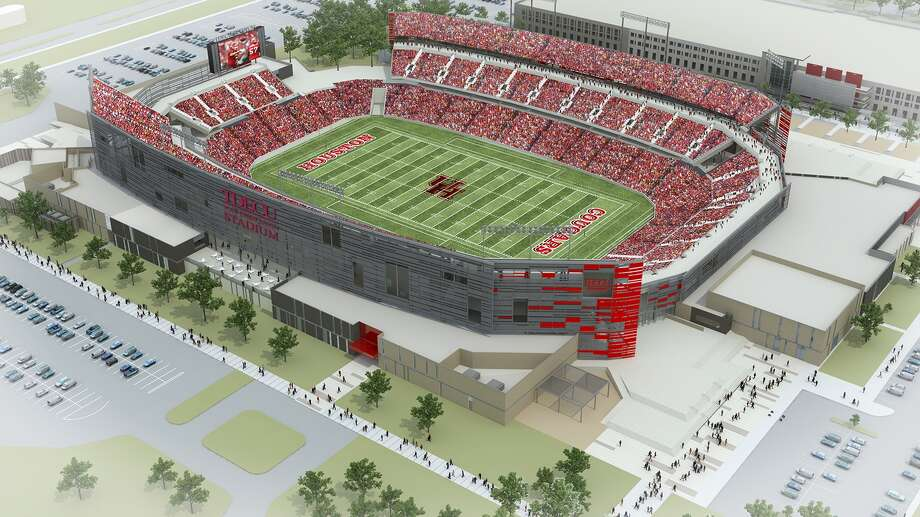 Artist's rendering of TDECU Stadium. (Courtesy of the University of Houston)