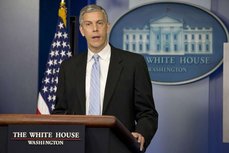 Education Secretary Arne Duncan voiced support for the ruling as impetus to fix the system. Photo: Jacquelyn Martin, Associated Press