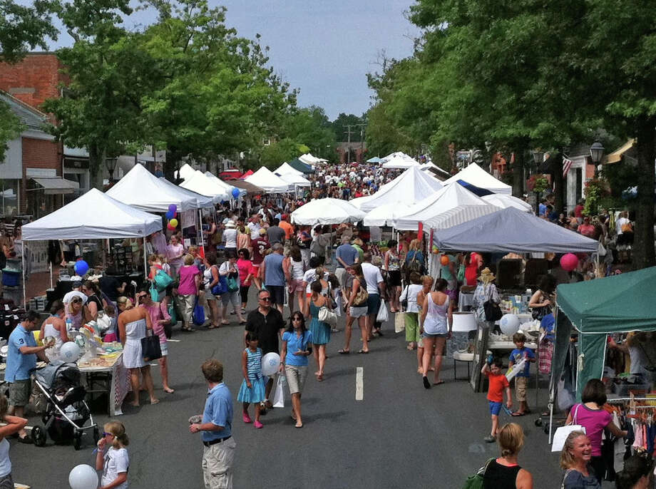 New Canaan's annual Village Fair and Sidewalk Sale will be held downtown Saturday, July 19, from 9 a.m. to 5 p.m., rain or shine. File photo Photo: Contributed Photo / New Canaan News