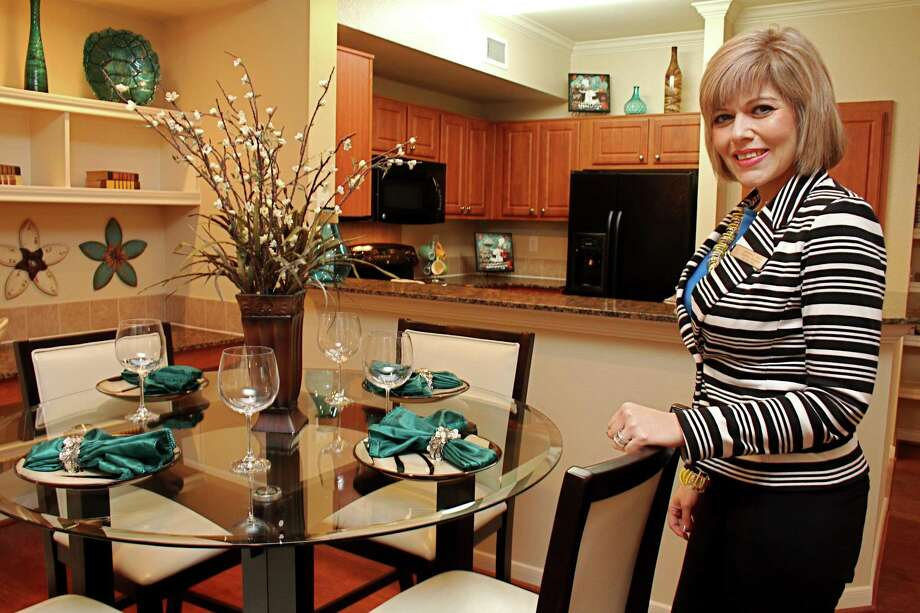 Katy has the happiest apartment residents in Texas, according to a recent survey conducted by J. Turner Research, a west Houston area market research firm specializing in the apartment industry. Particularly appreciated is the maintenance and responsiveness of the property manager. Veronica Meir is property manager at Oak Park Trails Apartments, 2005 S. Mason Road in Katy. Photo: Suzanne Rehak, Freelance Photographer