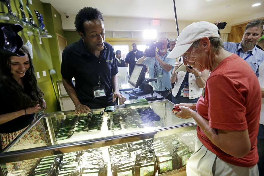 Legal sales of recreational marijuana began Tuesday in Washington state. Can California and others be far behind? Photo: Elaine Thompson, Associated Press