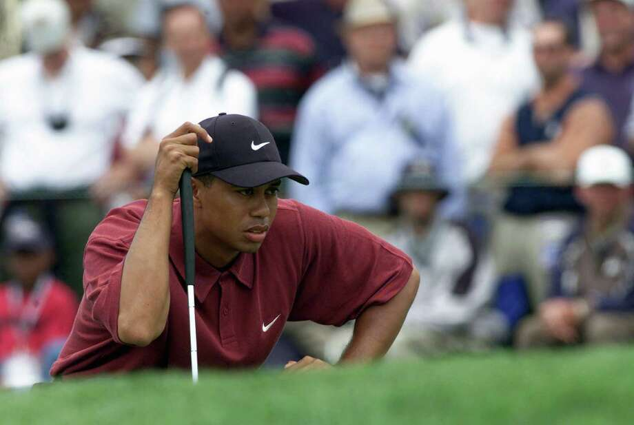 2000 U.S. OpenA 24-year-old Tiger Woods took on one of the world's most iconic courses at Pebble Beach and left the rest of the field in his rearview mirror. Woods shot an astounding 272 -- 12 stokes under par -- while Miguel Angel Jimenez and Ernie Els just missed out, tying for second place a whopping 15 strokes back. The epic win gave Woods the largest margin of victory ever in a major championship. Photo: Jonathan Ferrey, Getty Images / 2000 Getty Images
