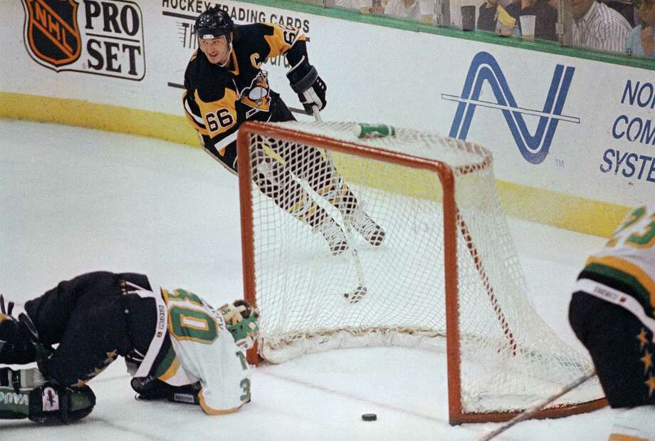 1991 Stanley Cup Finals Game 6After splitting the series' first four games, Mario Lemieux and the Pittsburgh Penguins defeated Minnesota 6-4 to set up a do-or-die Game 6. The North Stars died, giving up eight goals while failing to score any of their own in the most lopsided NHL Finals games ever. Lemieux and the Pens defended their title a year later. Photo: Larry Salzman, ASSOCIATED PRESS / AP1991