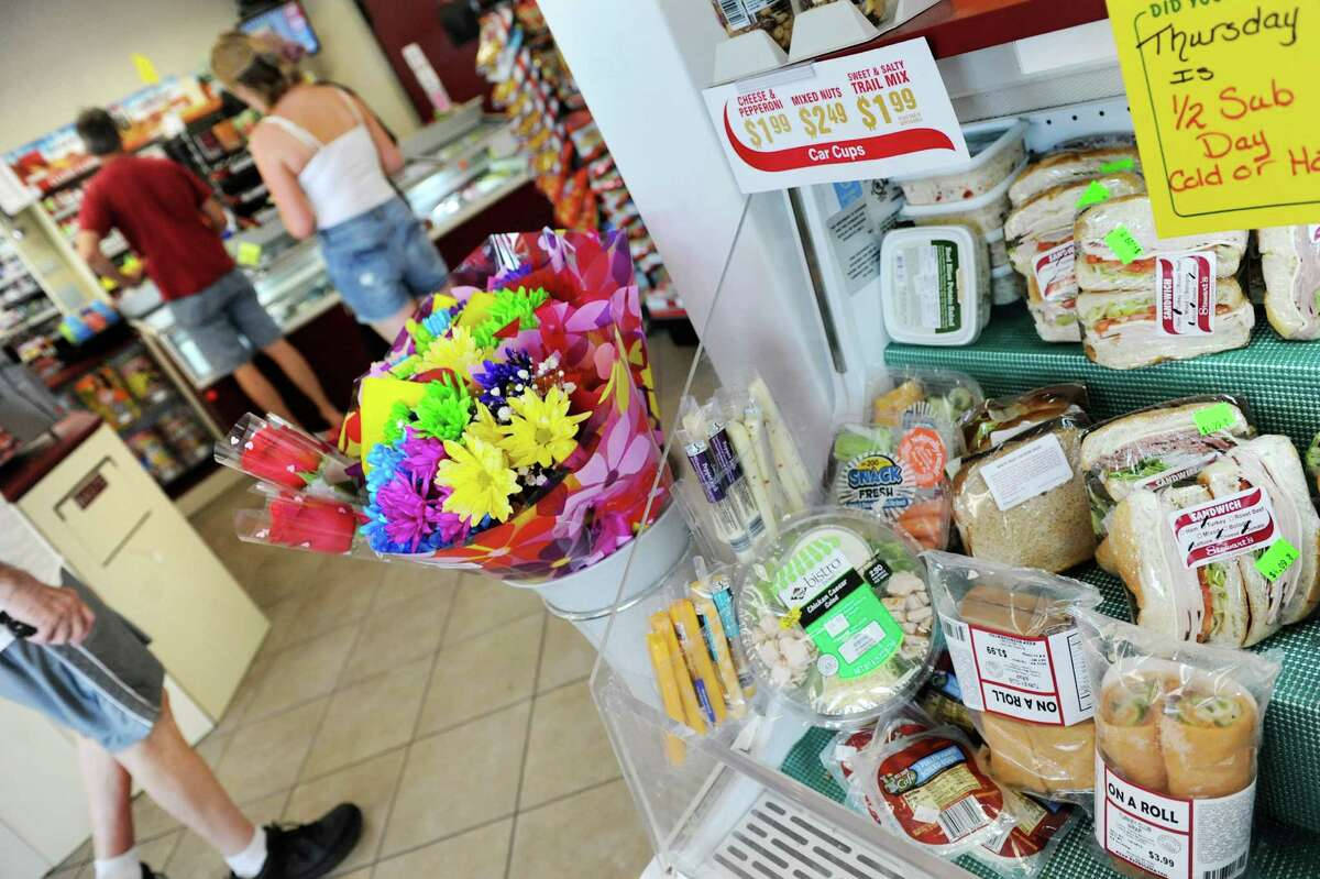Healthy snack options, like salad, veggies and sandwiches, are for sale on Thursday July 3, 2014, at Stewart's in Loudonville, N.Y. (Cindy Schultz / Times Union)