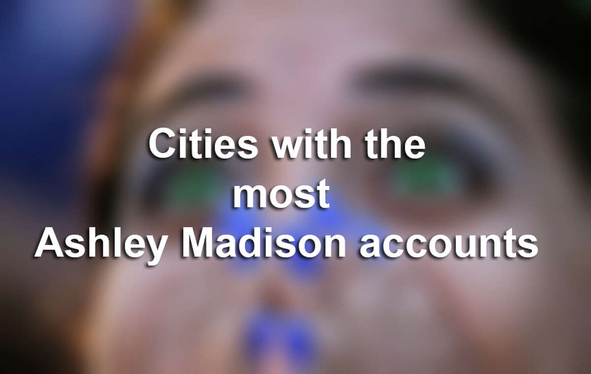 The 20 cities with the most Ashley Madison accounts A Reddit user sorted out the data leak from infamous dating website Ashley Madison to find out which cities have the most accounts. However, every account doesn't necessarily correlate with a real cheater. Ashley Madison, even in its terms of service, admits that it makes fantasy accounts for