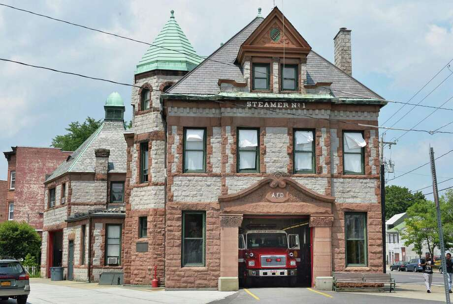 Exterior of the 122-year-old Engine No. 1 fire station Tuesday, July 8, 2014, in Albany, N.Y.  (John Carl D'Annibale / Times Union) Photo: John Carl D'Annibale / 00027706A