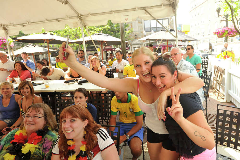 Scenes from Tigin Irish Pub in Stamford, Conn., where fans watched the Germany versus Brazil semifinal World Cup soccer match on Tuesday, July 8, 2014. Germany won the match, 7-1, and will face the winner of Wednesday's Netherlands versus Argentina match. Photo: Jason Rearick / Stamford Advocate