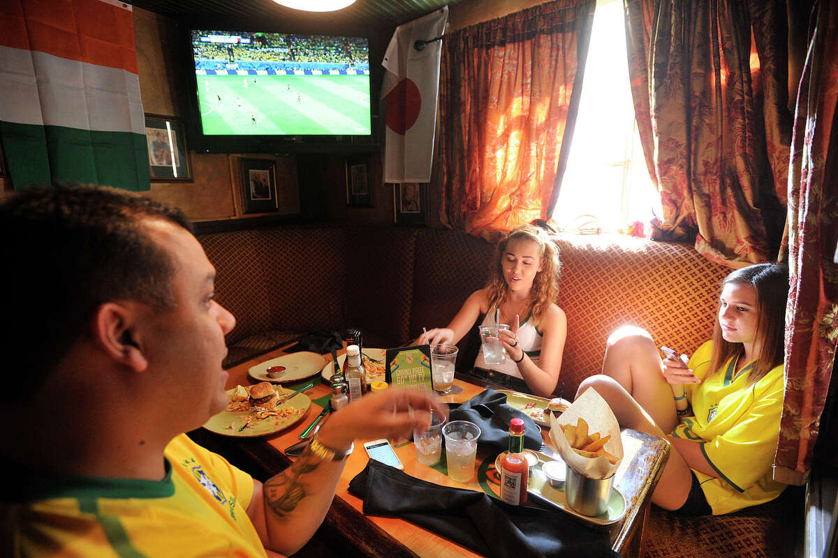 Scenes from Tigin Irish Pub in Stamford, Conn., where fans watched the Germany versus Brazil semifinal World Cup soccer match on Tuesday, July 8, 2014. Germany won the match, 7-1, and will face the winner of Wednesday's Netherlands versus Argentina match.