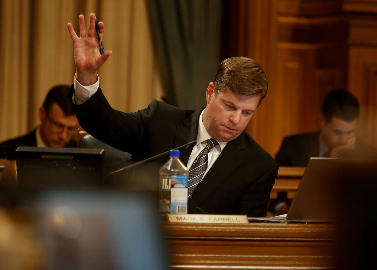 """Supervisor Mark Farrell, a strong advocate for Laura's Law raised his hand in support of an ammendment. The San Francisco Board of Supervisor's adopted """"Laura's Law"""" , which would compel people into treatment for mental health problems Tuesday July 8, 2014."""