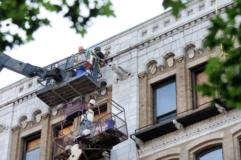 Workers make progress as they restore Proctor's Theater on Tuesday, July 8, 2014, in Troy, N.Y. (Cindy Schultz / Times Union) Photo: Cindy Schultz / 00027693A