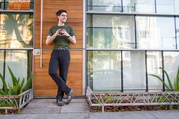 Gray dress pant sweat pants by Betabrand, a jocular clothing line founded by Chris Lindland.