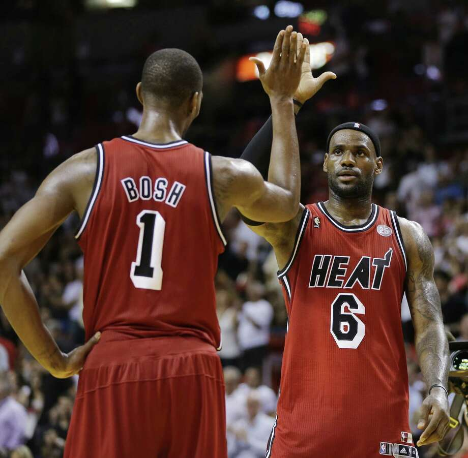 Miami's Chris Bosh and LeBron James are two of the biggest free agents on the market this summer, with James holding the key as to how several dominoes will fall throughout the league. Photo: J. Pat Carter / Associated Press / AP