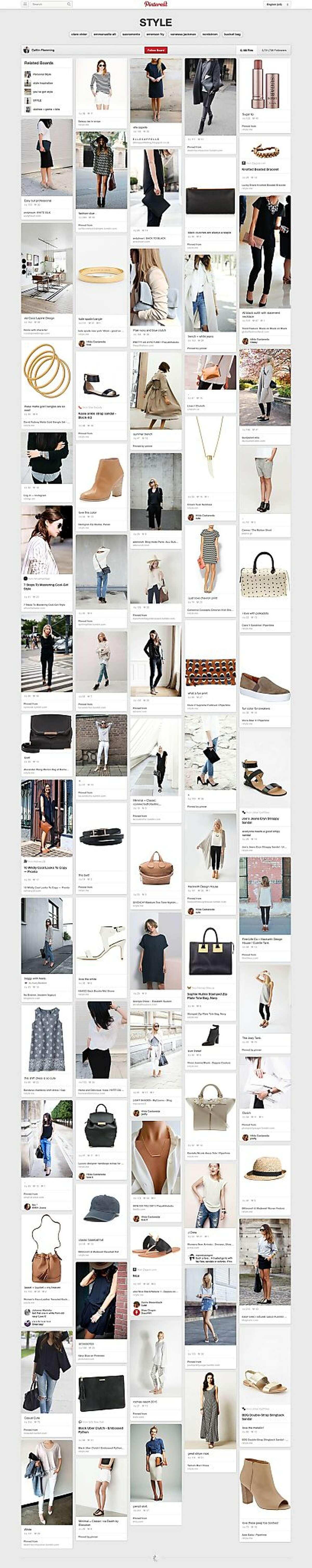 Pinterest board of interior designer and stylist Caitlin Flemming.