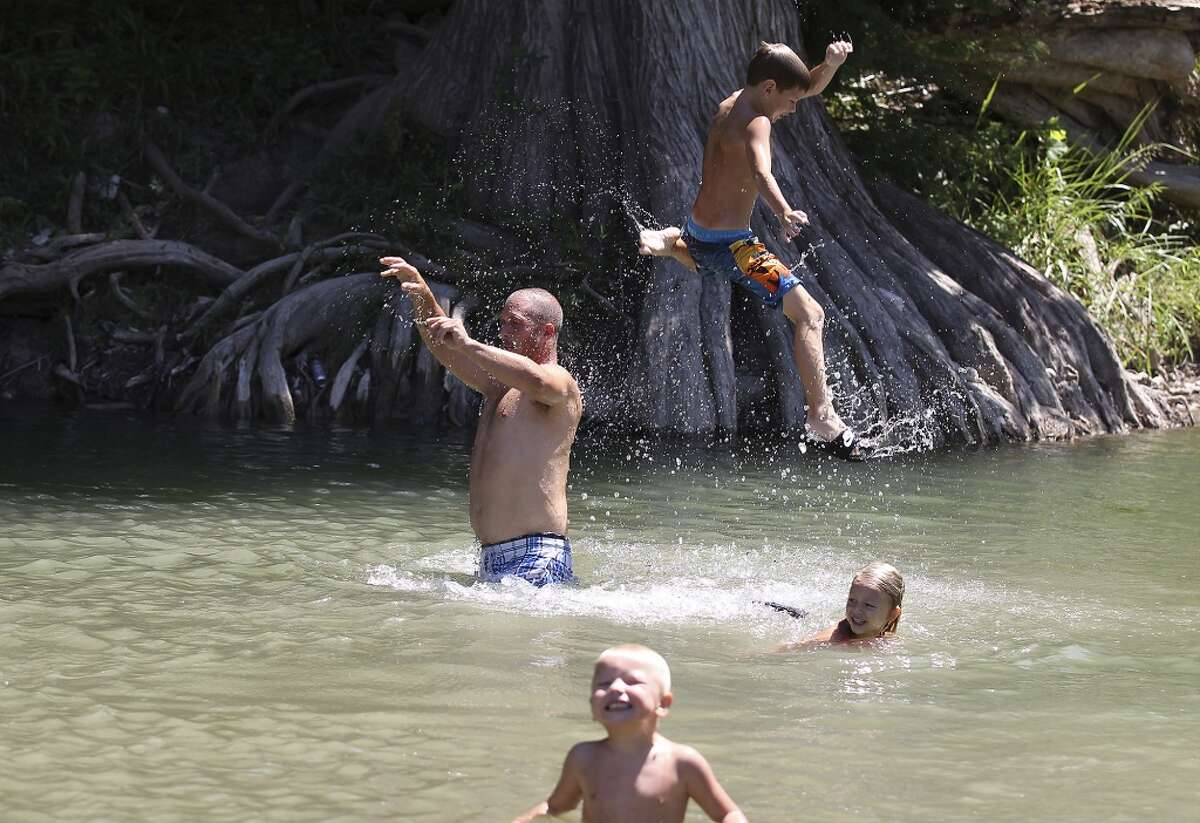 Guadalupe River State ParkDistance from San Antonio: About an hour drive north According to the Texas Parks and Wildlife Department, the park has four miles of river frontage - perfect for tubing, swimming, fishing, hiking and any other outdoor activity you can think of.