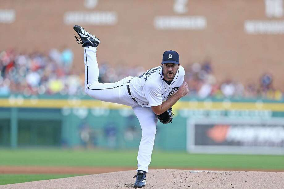 DETROIT, MI - JULY 08:  Justin Verlander #35 of the Detroit Tigers pitches in the first inning of the game against the Los Angeles Dodgers at Comerica Park on July 8, 2014 in Detroit, Michigan.  (Photo by Leon Halip/Getty Images) ORG XMIT: 477586153 Photo: Leon Halip / 2014 Getty Images
