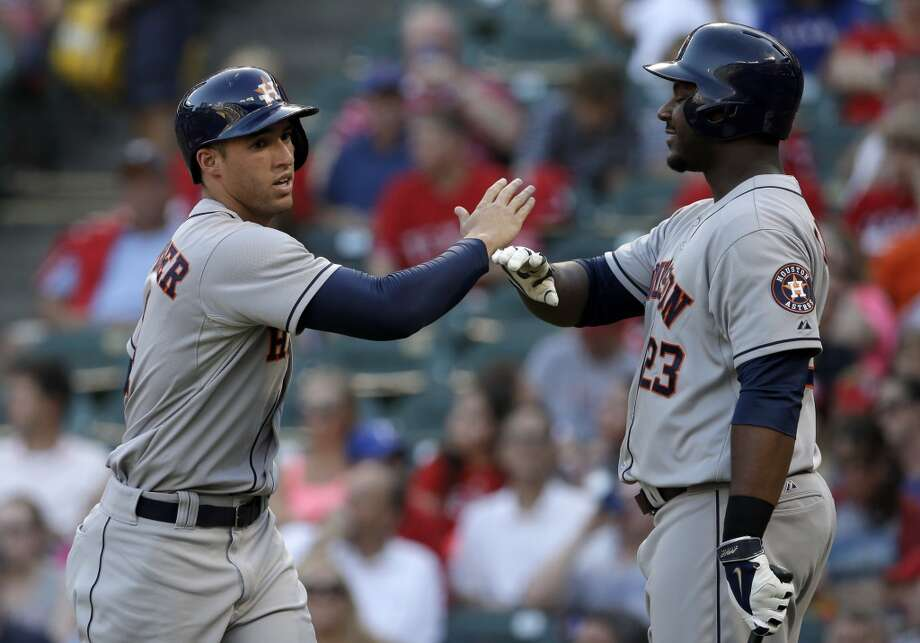 July 8: Astros 8, Rangers 3George Springer and Chris Carter played long ball in Arlington as the Astros made it back-to-back wins over the Rangers in this series and four straight over Texas dating back to the last series in May.  Record: 38-54. Photo: Tony Gutierrez, Associated Press
