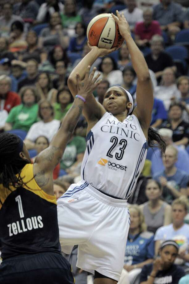 Minnesota's Maya Moore was the leading vote-getter and will start for the West in the All-Star game July 19. Photo: Tom Olmscheid, Associated Press / FR22905 AP