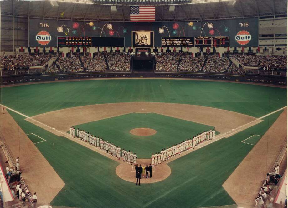 It was a magic moment when the teams lined up along the baselines for the first All-Star Game played in Texas, at the Astrodome in 1968. Photo: Houston Astros / handout