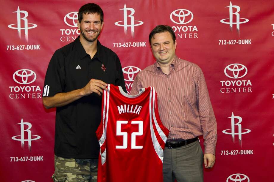July 20, 2010 – Brad Miller, centerBrought in as the ideal practitioner of Rick Adelman's offense, Miller was up and down in his stint with the Rockets before finishing up his career with Adelman in Minnesota. Photo: Brett Coomer, Houston Chronicle