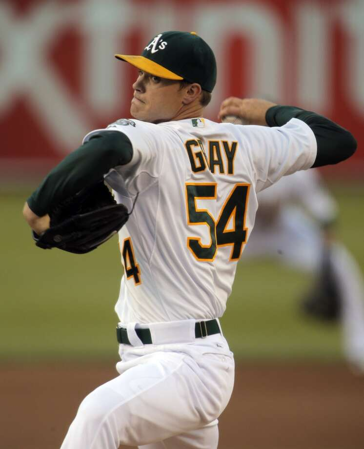 Sonny Gray started for the A's as the Oakland Athletics played the San Francisco Giants on Tuesday, July 8, 2014, at O.co Coliseum in Oakland, Calif. Photo: The Chronicle