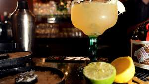 The Suga's margarita is made with Sweet and sour, Grand Marnier and Hornitos Reposado. Photo taken Tuesday, April 22, 2014 Guiseppe Barranco/@spotnewsshooter