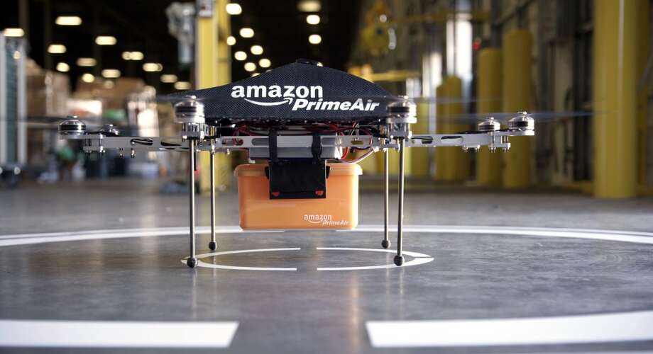 Amazon won't be delivering Prime orders with drones anytime soon, thanks to new rules finalized today by the FAA. Photo: Associated Press
