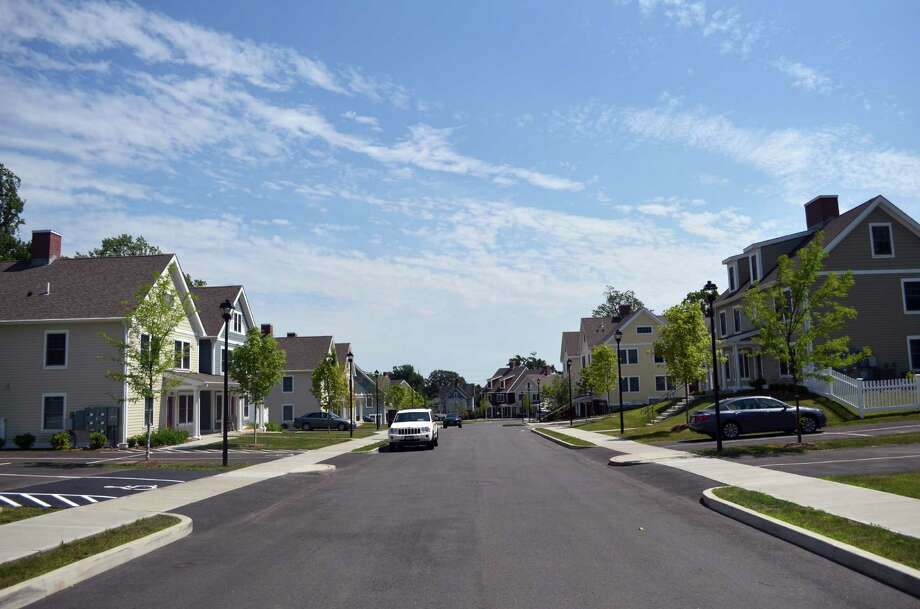 The Heights development was celebrated as being complete at a ribbon-cutting ceremony on July 1. Photo: Megan Spicer / Darien News