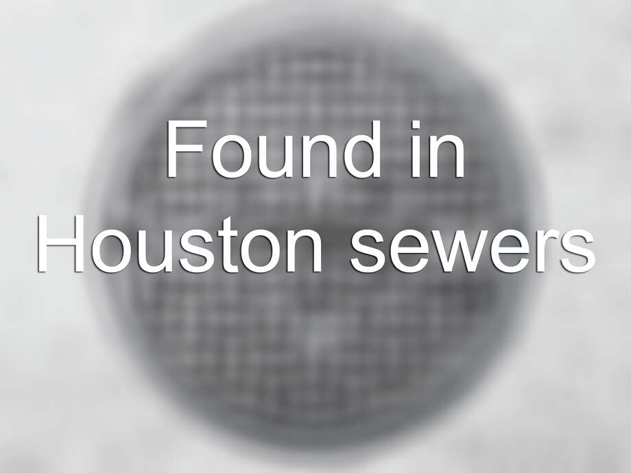 Who flushes a bowling ball?Houston sanitation workers have found the following items in Houston sewers. While they may not seem odd on their own, they beg the question – how the heck did they end up in the sewer? Photo: Steven Puetzer, Getty Images / (c) Steven Puetzer