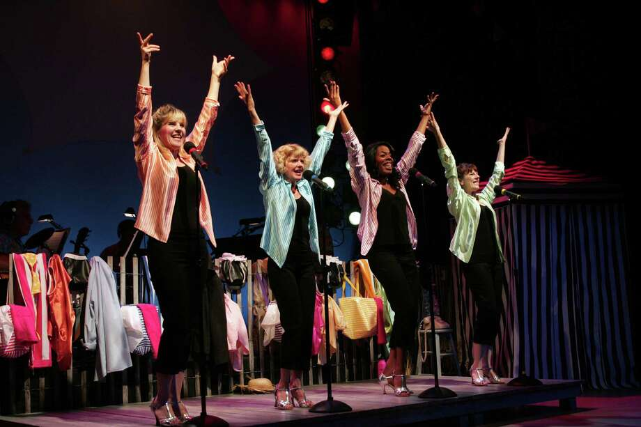 """(Left to right) Lori Hammel, Karyn Quakenbush, Meghan Duffy and Regina Levert play members of a 1960s Jersey Shore girls group who do a reunion show 30 years later in """"The Bikinis,"""" the musical running through July 27 at Long Wharf Theatre in New Haven. Find out more.  Photo: Contributed Photo / Connecticut Post Contributed"""